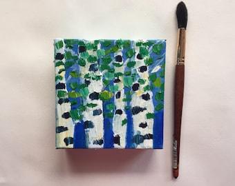 Mini birch scene