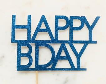 Happy Birthday Cake Topper. Birthday Cake Topper. Celebration Cake Topper. Available in range of colours.