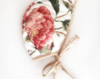 Peony Blooms Bonnet