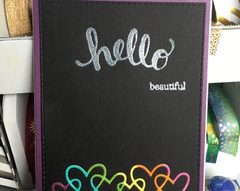 Encouragement or Friendship Card with Hello Beautiful