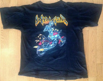 "Winger Vintage Shirt ""F**k it!! easy come Easy go"" 1991 Glam Metal Hard Rock"
