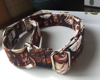 Chocolate Bonbon Martingale Dog Collar