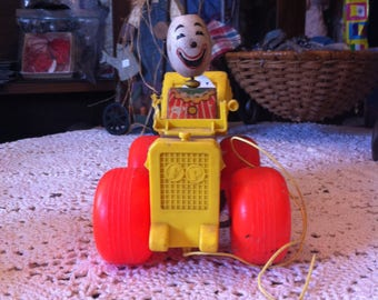 Fisher Price Toy Jalopy With Clown