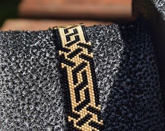 Miyuki Delicas beads, embroidery Peyote bracelet