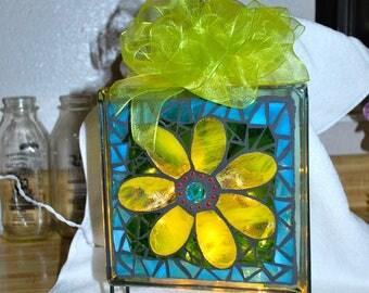 Mosaic Night Light - Sunflower