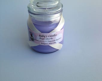 Candle scent candy has violet