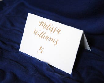Custom Calligraphy Place Cards, Modern Calligraphy Place Cards, Gold Calligraphy Place Cards, Wedding Place Cards, Hand Written Place Cards