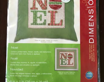 Noel Fabric Applique by Dimensions, Embroidery Kit