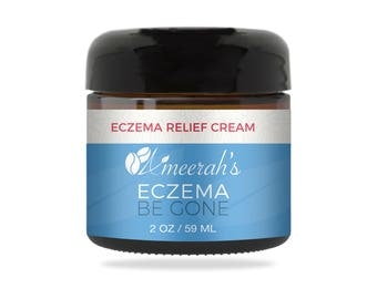 Eczema Be Gone Body Moisturizer Cream - 2 ozs - 100% Natural - Great for Psoriasis, Rashes, Rosacea, Dry Skin & Normal Skin