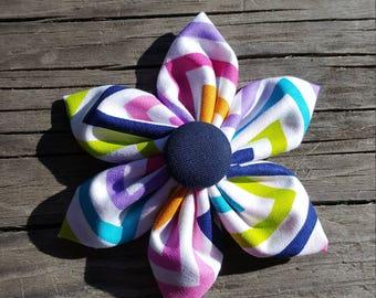Chevron Fabric Bow