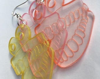 Chattering Teeth Acrylic Earrings