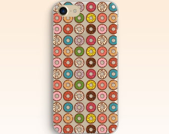 Donuts Doughnuts iPhone 5 Case iPhone 5 Case iPhone 7 Case iPhone 6 Sweet iPhone 6s Plus Clear Case For Samsung S7 Case For Galaxy S6 S5 045
