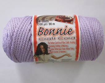 Bonnie Macrame Craft Cord 4mm 100 Yards Lavender
