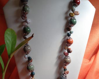 Colorful Beads with Breciated Jasper Stones