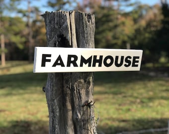 Rustic Wooden Farmhouse Wall Sign