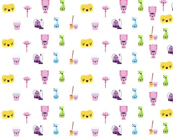 Cute Kawaii Cleaning Stickers