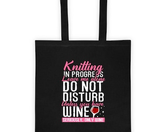 Knitting and wine lovers Tote bag