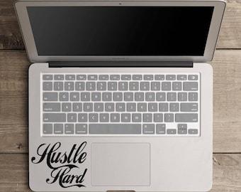 Hustle hard decal