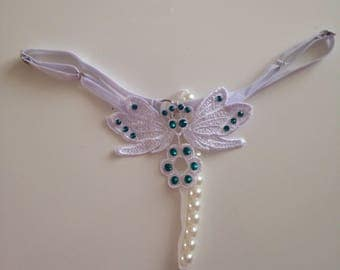 White Adjustable Butterfly Thong
