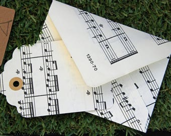 Vintage sheet music envelope with giftcard