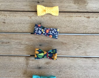 Mini Fabric Bows• Nylone Head Band• Hair Clip •Choose Your Style •