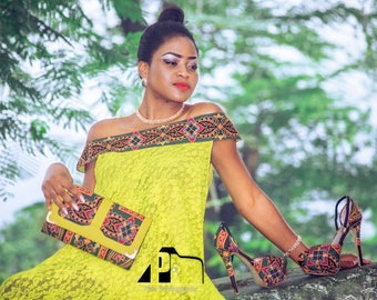 Top Knitted Tribal Groove Yellow Gown
