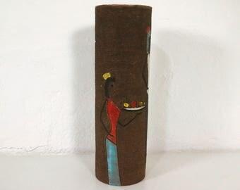 """Mid century tubular vase, Tischvase by Fratelli FANCIULLACCI """"Alla moda"""" Italy, 60s"""