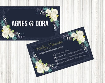 PERSONALIZED Agnes and Dora Business Card, Agnes and Dora Punch Card, Business Cards, Digital File AD10