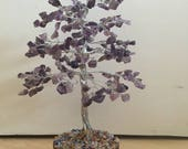 Pretty Amethyst 300 X Gemstones Crystal Tree Gift