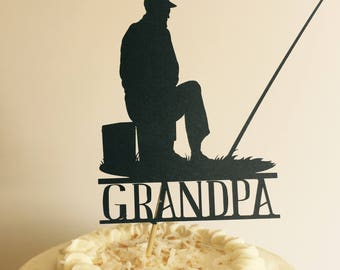 Fishing cake topper Etsy