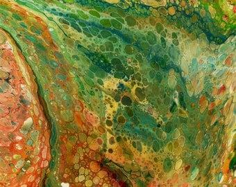 DvonG #5: Original Handmade Acrylic Pouring Painting