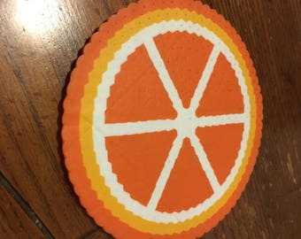 Fruit Themed Perler Bead Coaster