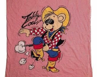 teddy cool T shirt vintage 1985 women XL