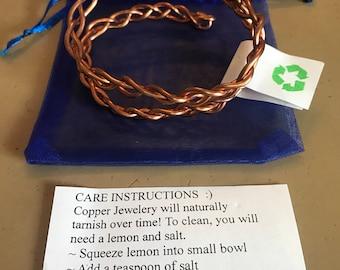 Braided copper wrap around