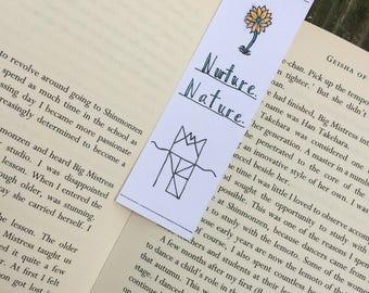 Nurture. Nature. | Watercolor Bookmark