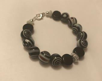 Marble bead bracelet
