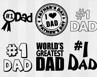 Father's Day SVG Bundle, father's Day clipart, father cut files, svg files for silhouette, files for cricut, svg, dxf, eps, cuttable design