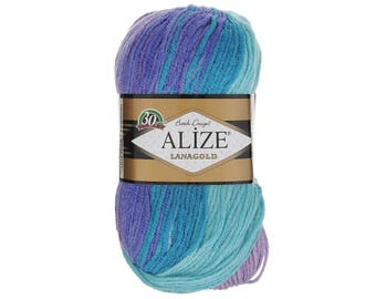 LanaGold Batik Alize yarn Knitting yarn Hand knit yarn Soft yarn Winter Soft yarn Blend wool Wool yarn Acrylic yarn Crochet yarn Blend yarn