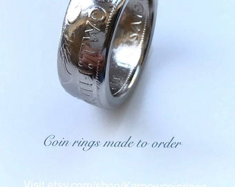 1965 Two Shilling coin ring