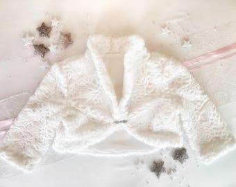 Eco Fur Bridal Bolero 3/4 Sleeves