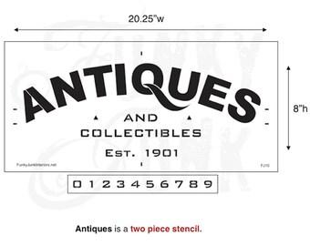 Funky Junk Stencil - Antiques - Furniture or Wall Stencil