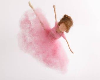 Ballerina, Prima Ballerina, Waldorf, doll, dance, needle felted