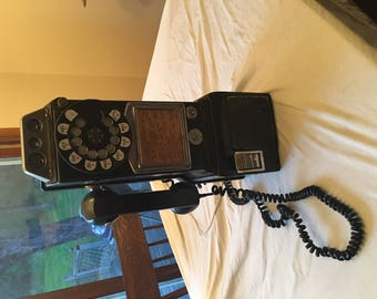 Vintage Automatic Electric Company 1950's Rotary Dial Three Coin Payphone