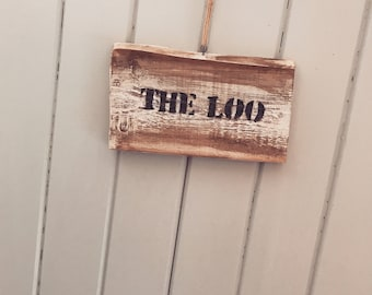 The loo toilet sign