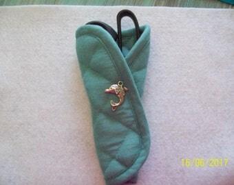Nautical Kitchen Scissor Holder w/ Dolphin Charm