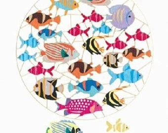 Laser cut greeting card PM859 - Reef Fish