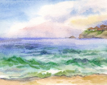 Landscape Original Watercolour Painting Q76