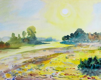 Landscape Watercolour Painting Q85