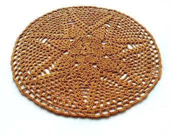 Brown Crochet doily, Crochet doilies,lace doily, cotton, Table decoration,napkin, crochet coasters, doily, crochet pattern, handmade doilies