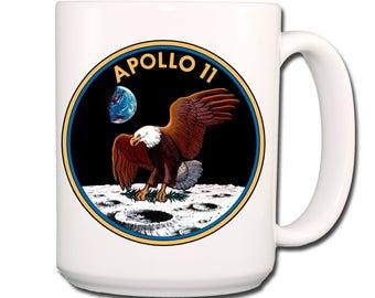 Apollo 11 Moon Landing NASA Logo Extra Large Coffee Mug 15 oz